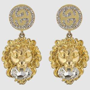 GUCCI interlocking G Lion Earrings 2019 season